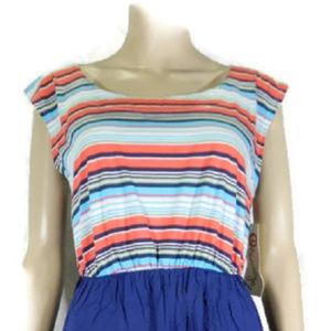 Olsenboye Blue Print Dress. NWT.  M